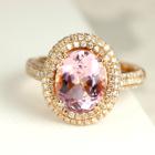 マダガスカル産モルガナイト 1.6ct ダイヤモンド ピンクゴールド リング(指輪)