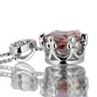 マラヤガーネット(ウンバライト)0.9ct ダイヤモンド ホワイトゴールド ネックレス