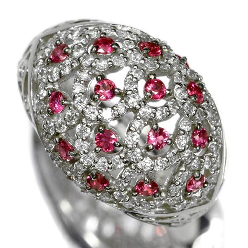 ルビー 0.50ct ダイヤモンド プラチナ リング(指輪)