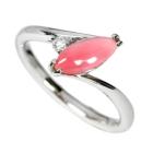 コンクパール 0.81ct ダイヤモンド プラチナ リング(指輪)