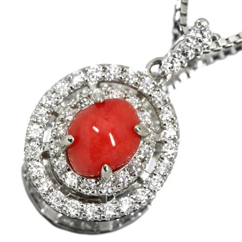 コンクパール 1.12ct ダイヤモンド プラチナ ネックレス
